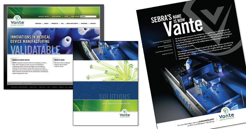 Vante - Website, Brochure & Print