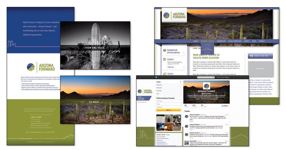 Arizona Forward - Tri-fold Card, Social Media & Website