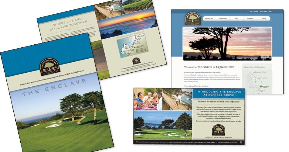 Enclave at Cypress Grove - Brochure, Website & Advertisments