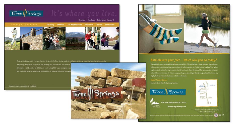 Three Springs of Durango - Advertisments & Environmental Signage