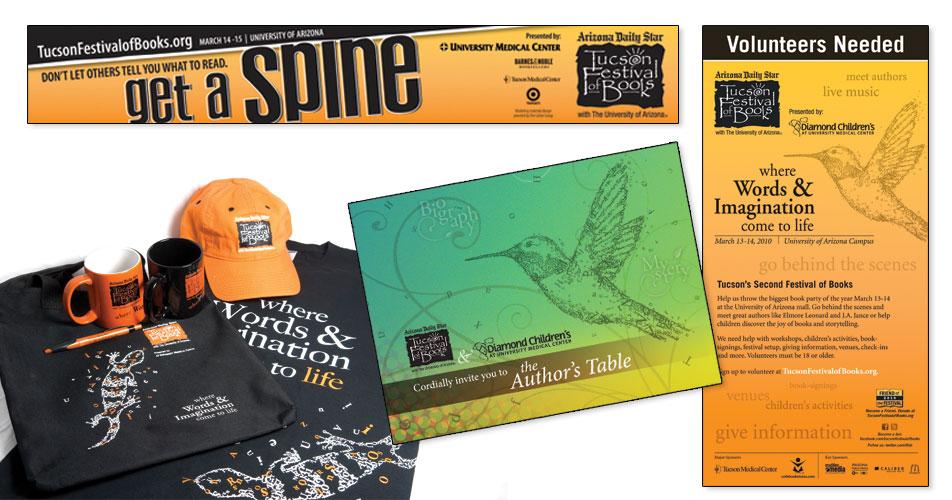 Tucson Festival of Books - Advertisements, Invitation & Various Merchandise