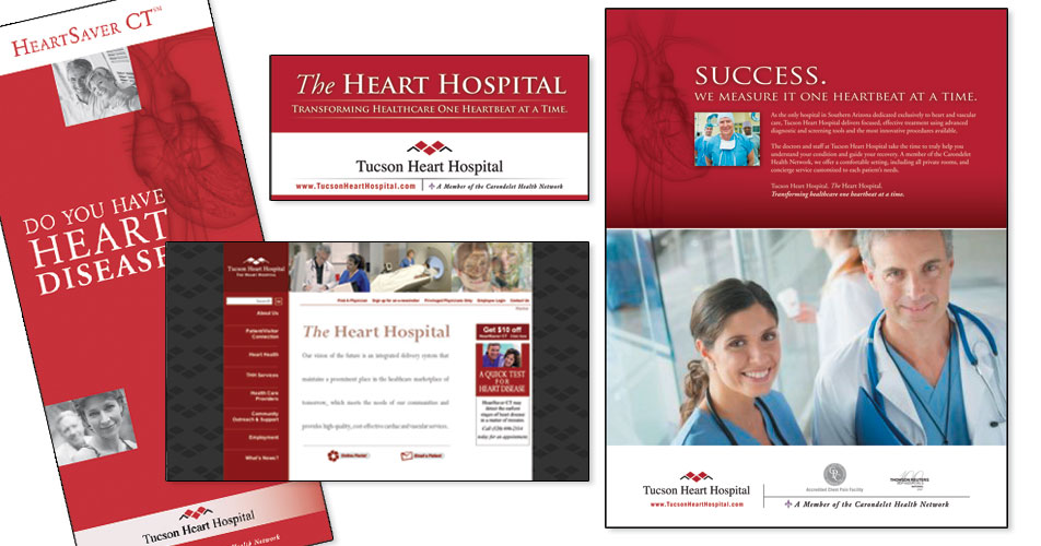 Tucson Heart Hospital - Website, Brochure, & Advertisments