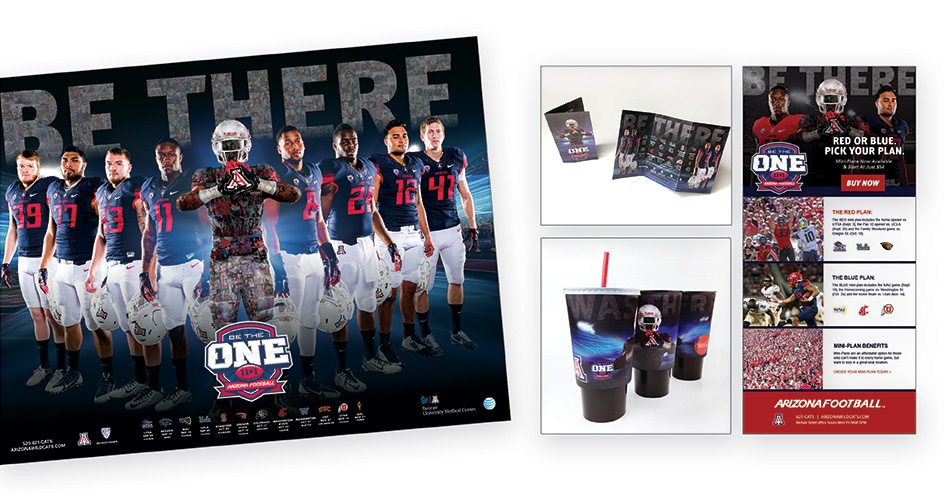 Arizona Athletics Be There Football Campaign