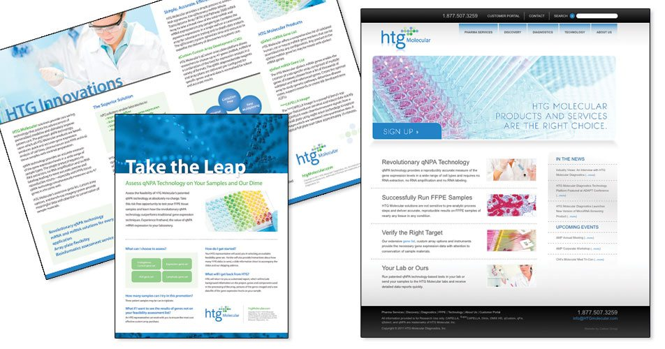 HTG Molecular - Website, Brochure & Print