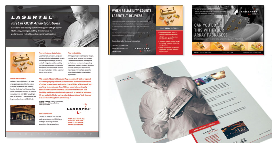 Lasertel - Ads & Brochures