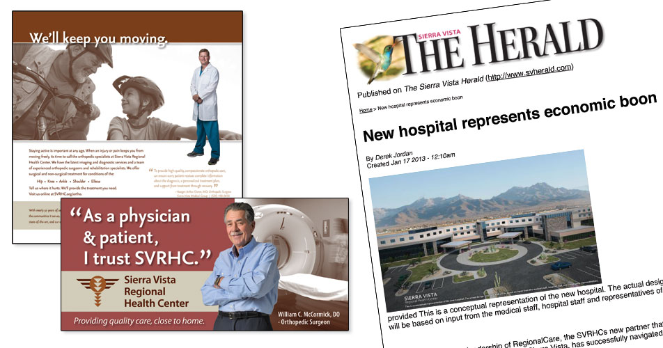Sierra Vista Regional Health Center Ads and Public Relations