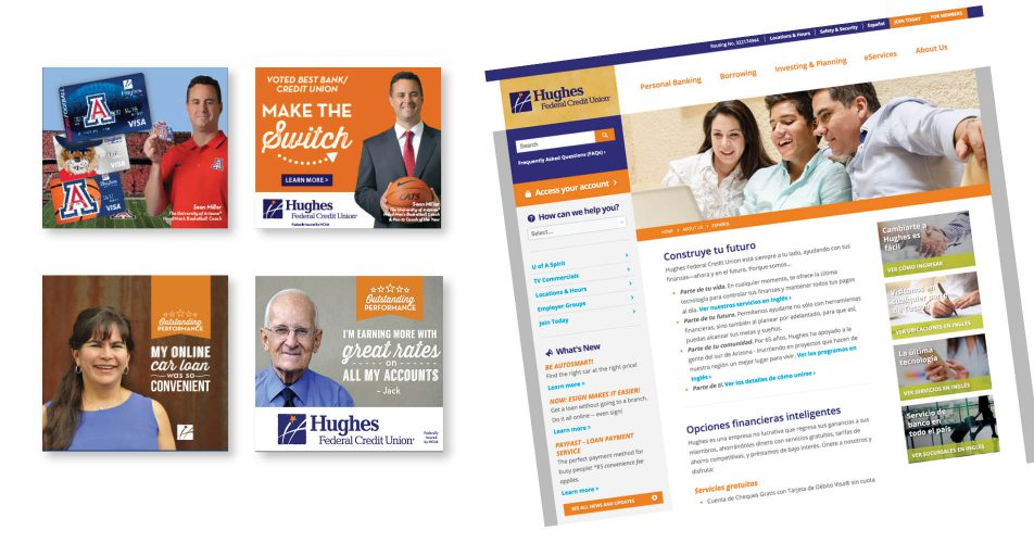 Hughes Federal Credit Union - Web Banners, Landing Page and Social Media