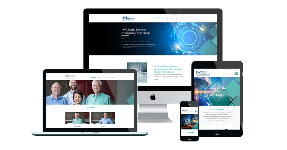 DVI Equity Partners responsive website